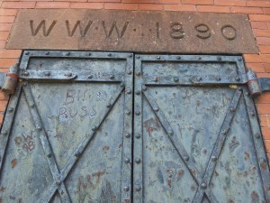 "Inscription above door of pump house reads "" WWW 1890"""