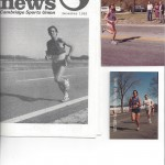 Three old photos of Steve Bratt running - 1980 to 1983