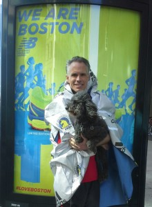 Steve and Milo at Finish of Marathon