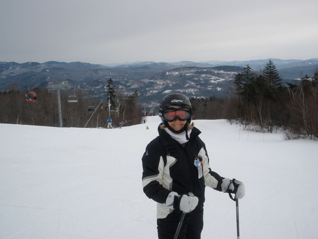 Amy skiing at Sunday River